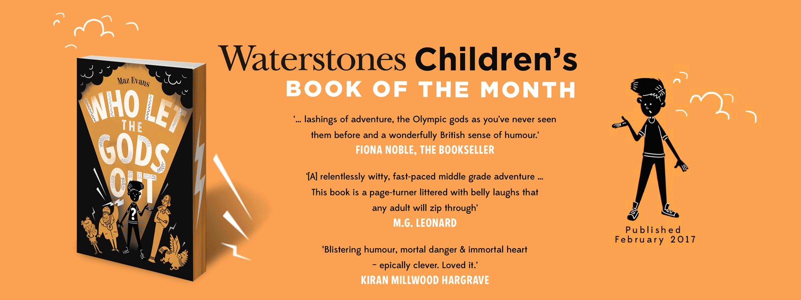 Who Let the Gods out? Waterstones book of the month